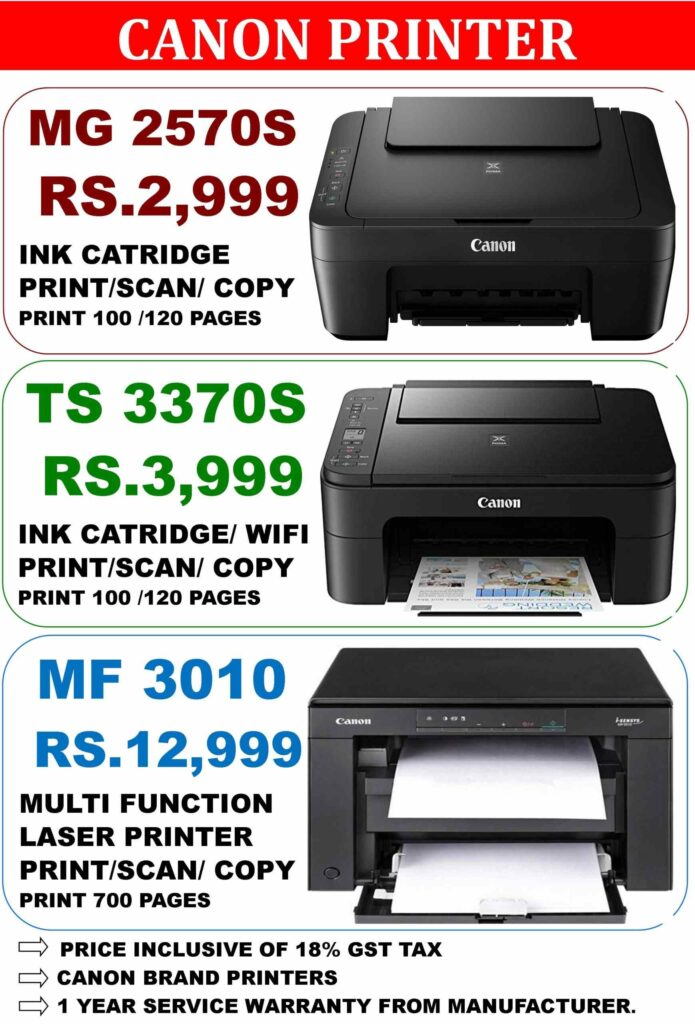 Canon Printer Price